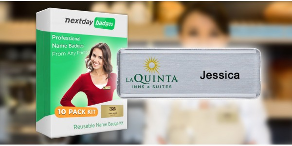 Reusable Name Badge Kit - 10 Pack